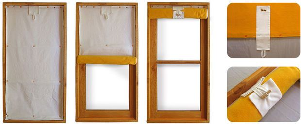 Insulating curtains that cut heat losses through windows by 50% - Looks like an easy project with no sewing necessary.