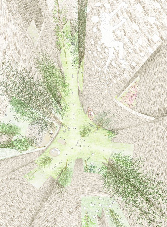 The tall gardens, Svendborg Architects in collaboration with Junya Ishigami.
