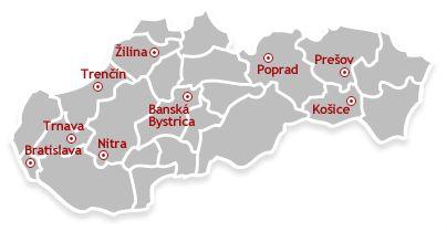 Turistická mapa Slovenska