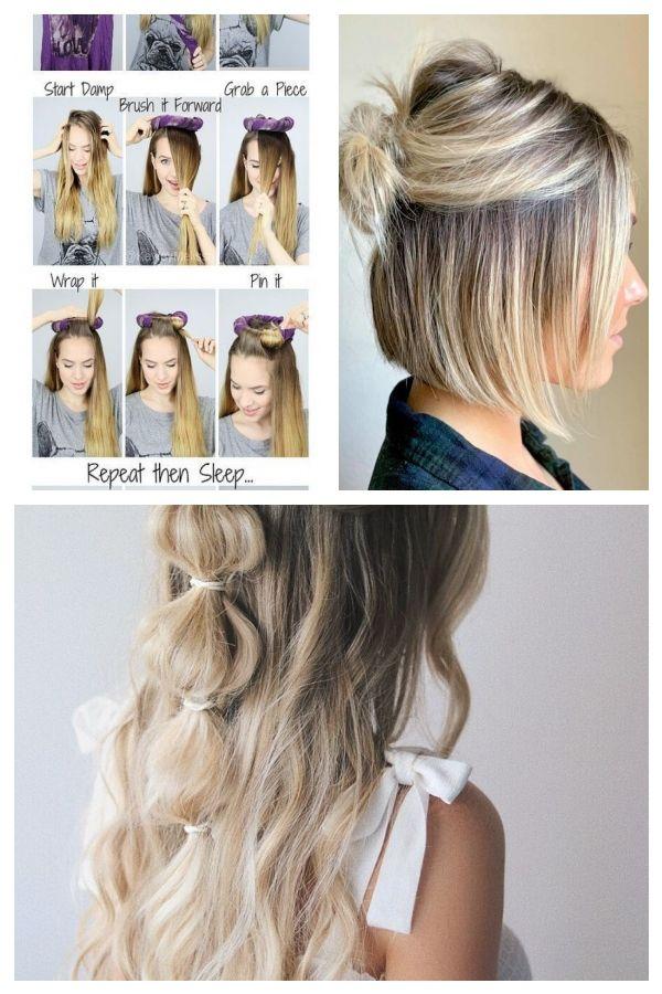 Easy Hairstyles No Heat Hair Ideas Kein Warmeschlaf Waves 29 Best Ide Einfachefrisuren Easyhairstylesno Easy Hairstyles No Heat Hairstyles Hair Styles