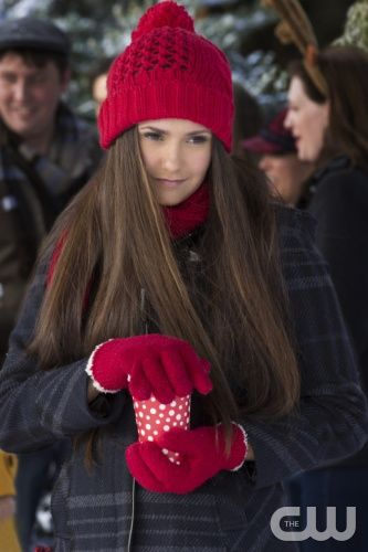 """The Vampire Diaries -- """"Christmas Through Your Eyes"""" -- Image Number: VD610a_0301.jpg -- Pictured: Nina Dobrev as Elena -- Photo: Bob Mahoney/The CW -- © 2014 The CW Network, LLC. All rights reserved."""