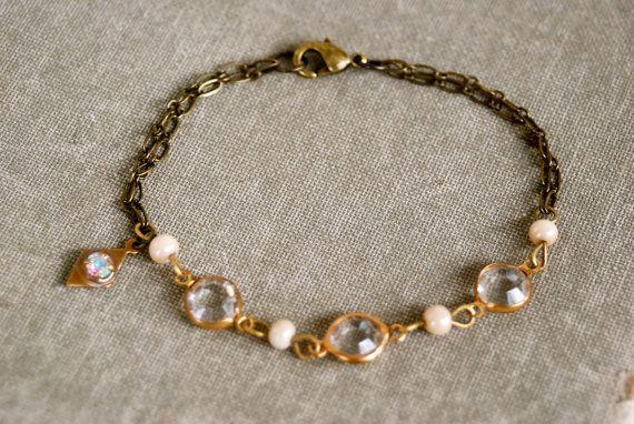 Encanto pulsera de cuentas de cristal romántico por tiedupmemories