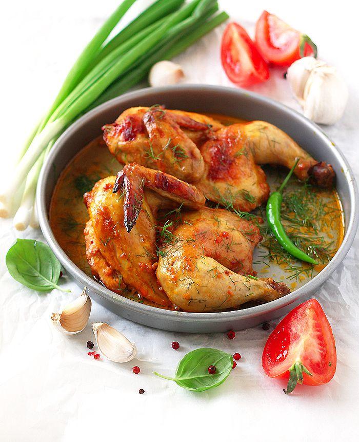 Курица запеченная в духовке с куркумой и паприкой - В гостях у Фиалки!