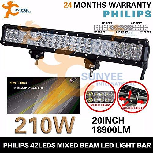 20 Inch 210W Flood Spot Offroad LED Light Bar Truck 4WD Suv Atv vs 120W