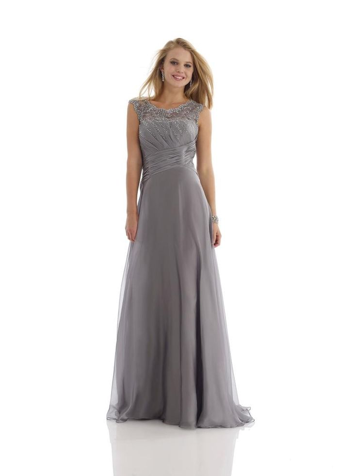 charcoal gray a line mother of the bride dress | ... Top Brush Train Grey Chiffon A Line Mother Of The Bride Dress P2mm0029