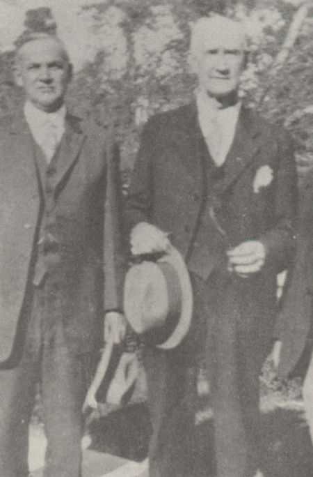 Jesse Edwards James, left.  Son of Jesse James.