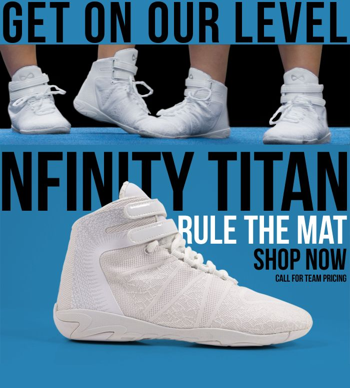 Unleash Your Inner Titan with the Nfinity Cheerleading Titan. Shoe game strong.
