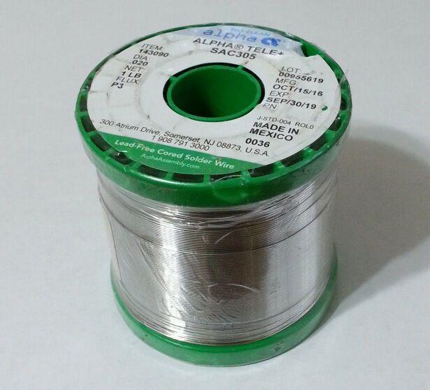 Silver 3 Sac305 Alpha Solder 020 96 5 Sn 3 Ag 5 Cu P3 No Clean 143090 1lb Alpha Soldering Copper Solder Ebay