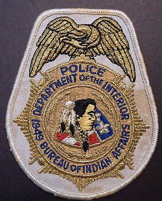 Vintage Deptartment Of The Interior Bureau Indian Affairs Police Shoulder Patch