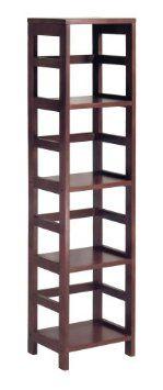 Amazon.com: Winsome Wood 4-Shelf Narrow Shelving Unit, Espresso: Home & Kitchen