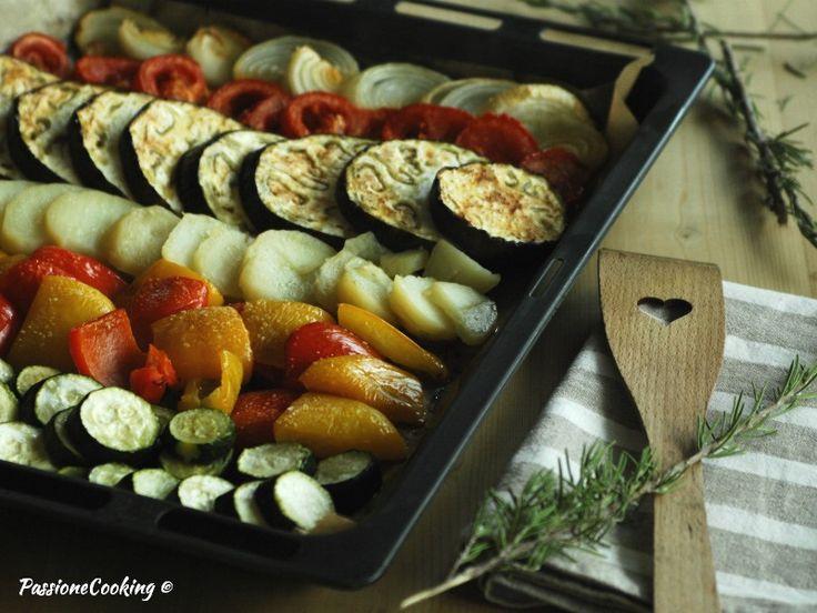Teglia di verdure miste al forno