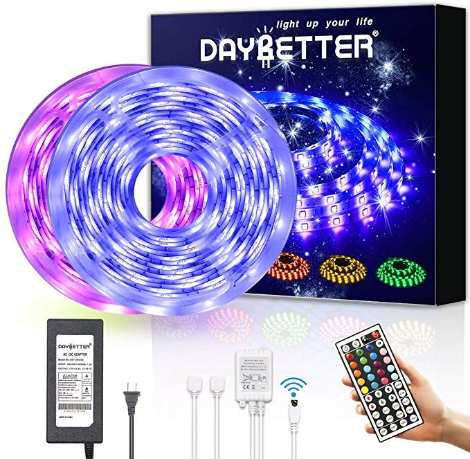 Amazon Com Daybetter Led Strip Lights 32 8ft Waterproof Flexible Tape Lights Color Changing 5050 Rgb 300 Leds Li Tape Lights Led Strip Lighting Strip Lighting