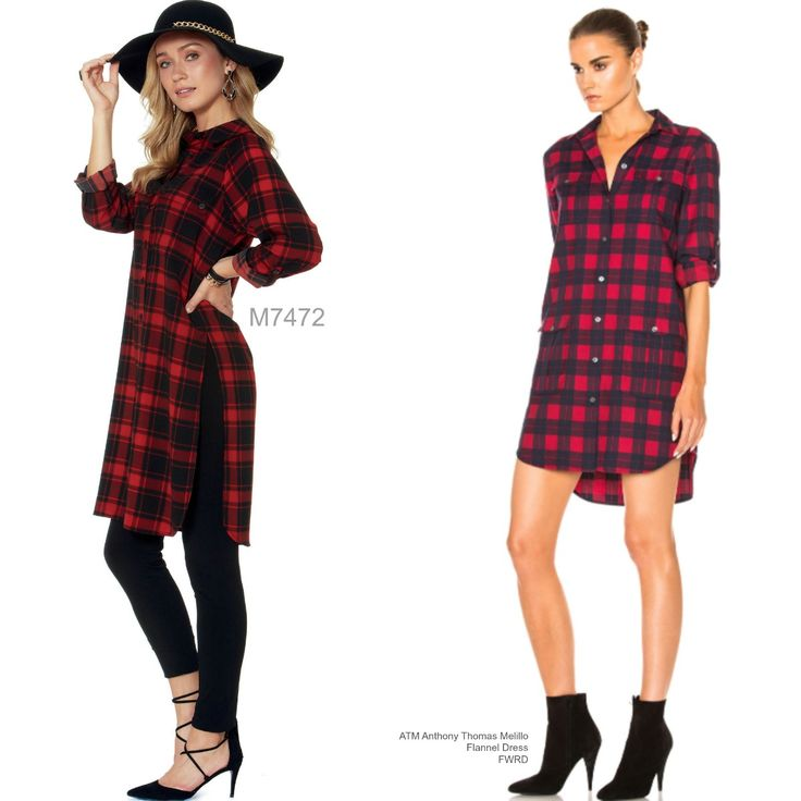 Sew the Look: McCall's M7472 flannel tunic dress