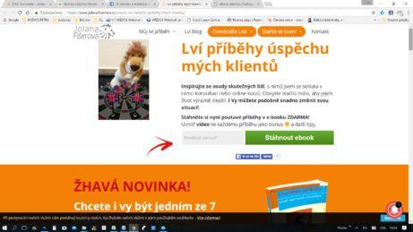 Jolana Fišerová a její ebook ZDARMA: Lví příběhy úspěchu mých klientů