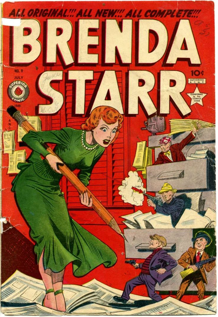 Comic Book Cover For Brenda Starr Comics v2 #9