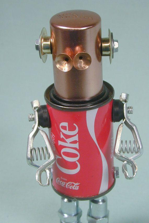 Objet trouvé Robot Sculpture Assemblage de par NutzenBoltsWorks