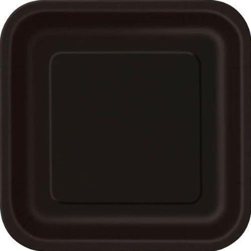 Halloween Black Plates SQUARE Paper (9/23cm) x14 pieces