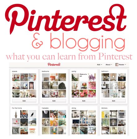interesting post on how to use Pinterest with a blog by Nesting Place