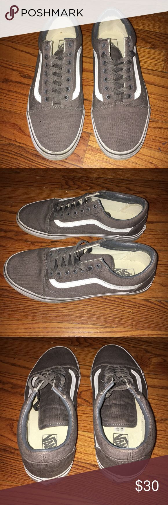 Grey Old Skool Vans Size: 10 Condition: 8/10  All items will shipped 1-2 days after purchase Ask me anything if curious about something All sales are final, no refunds Shipping varies depending on buyer's location Vans Shoes Sneakers