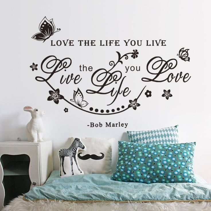 Bob Marley Wall Quote Decal //Price: $ 10.95 & FREE shipping //  #interiordesign #interior #walldecal #wallsticker #wallstickermurah #decor #walldecor #walldecals #homedecor #wallart #design #decor #wallstargraphics