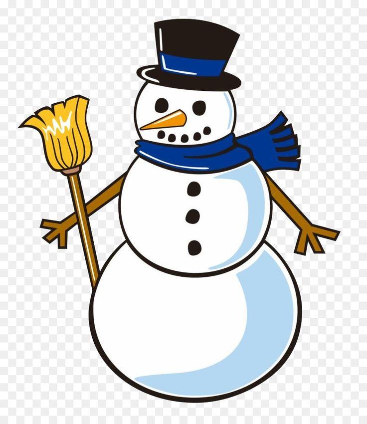 Снеговик нарисованная картинка