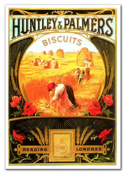 Vintage advertising: Huntley & Palmers biscuits