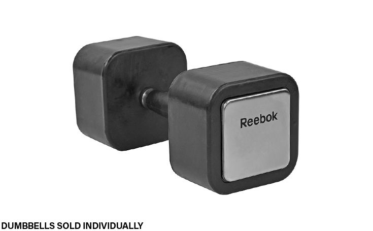 Rubber Square Dumbbell, 25lbs