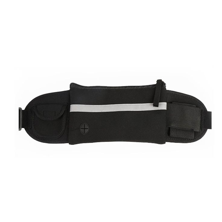 Refoss Running Waist Pack, Waterproof Fanny Pack, Expandable Sport Belt with Water Bottle Holder, Great for Biking, Hiking, Travel and Outdoor Activities (Black). ULTRA LIGHTWEIGHT: (2.8oz/80g). Perfectly designed for a plethora of activities, such as running, hiking, traveling, trail running, jogging, taking walks, biking, zumba, piloxing, spinning, various workout on machines such as treadmill, elliptical, etc., and a plethora of fitness activities. REFLECTIVE STRAP: The belt reflective...