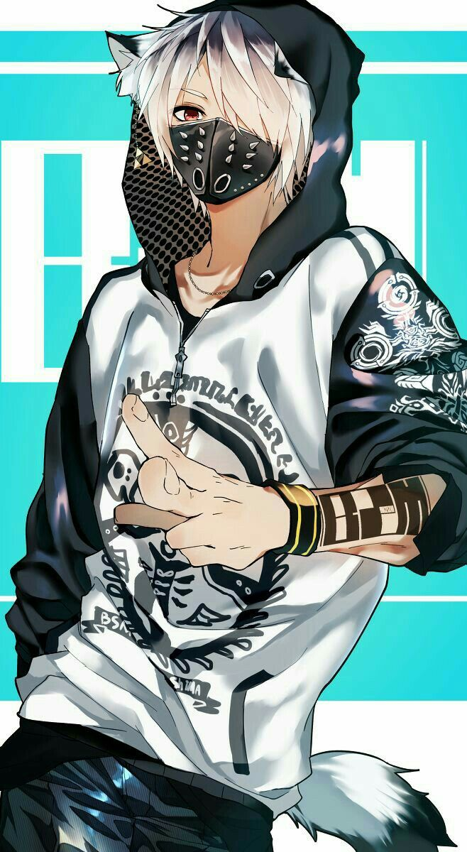 Pin By Sky Flakes On Mask Anime Boys Anime Neko Cool Anime Guys Anime