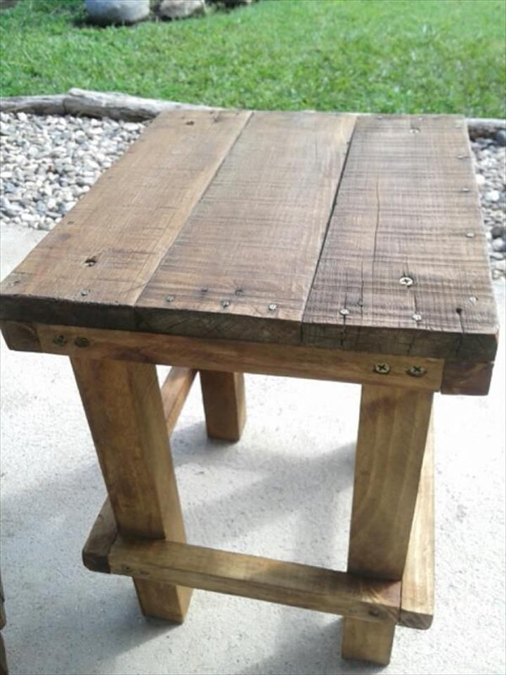 Pallet Mini Tables / Nightstands / Side #Tables   99 Pallets