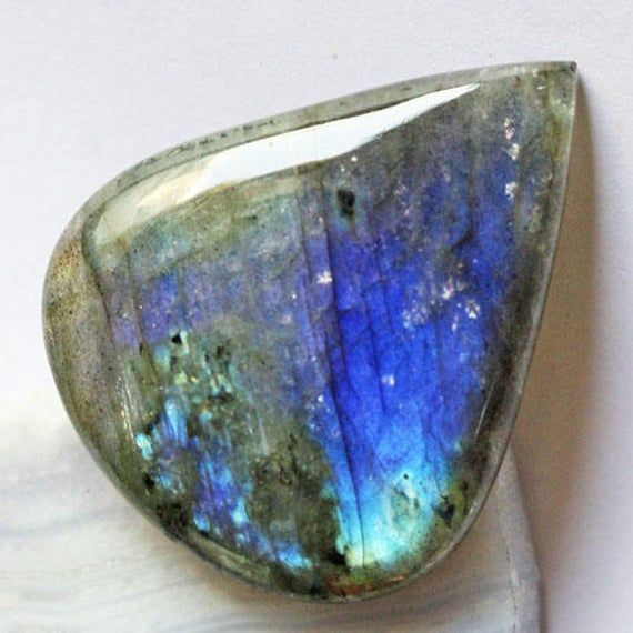 Genuine Blue Flashy Labradorite Gemstone Cabochon, 37X30X8 MM, Jewelry Gemstone, Semi Precious, Pendant Cabochon, Wholesale Price, AG-5995