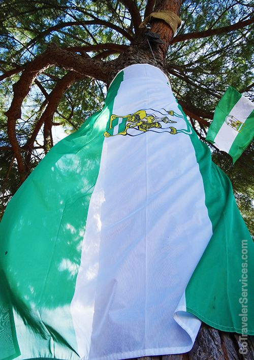 An Andalusia Flag displayed on Andalusia Day (February 28). /// La bandera andaluza ondeando para celebrar el Día de Andalucia (28 de Febrero)