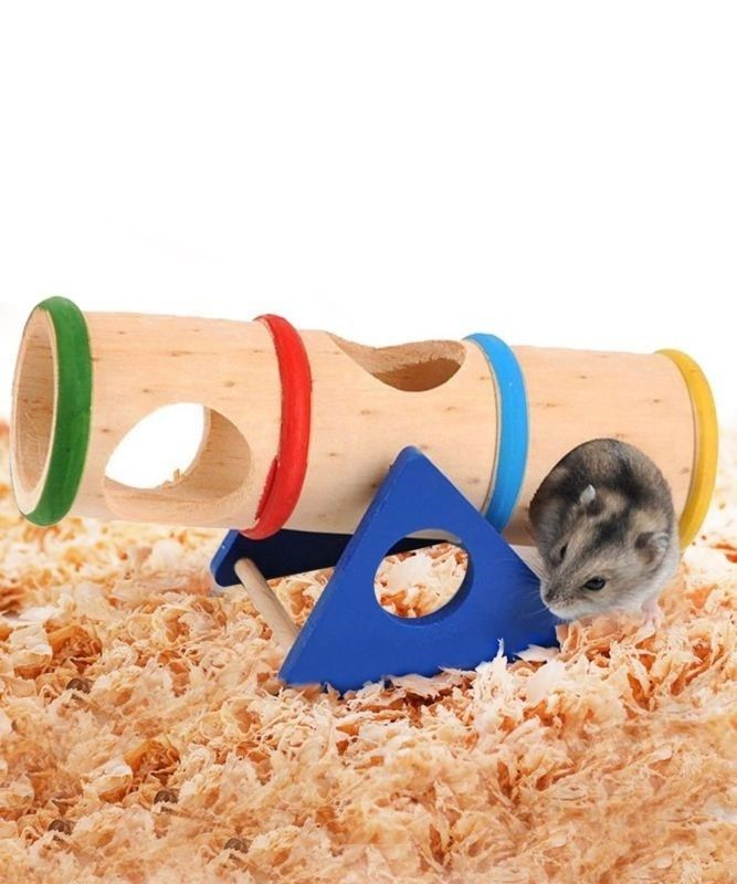 """Hamster Seesaw Tunnel for Mouse Hammie Rat Rodents Playground Toy 1.3"""" Diameter #pets #smallpet #guineapigs #rats #hamster #gerbil #mice #Mouse #toys #PetToys #PetProducts #PetGear"""