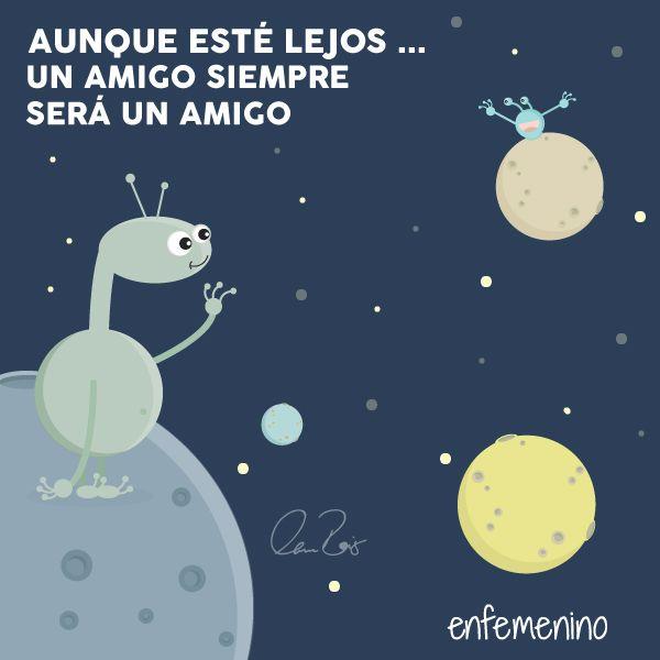 Aunque esté lejos... Un amigo siempre será un amigo #frasedeldia #amistad