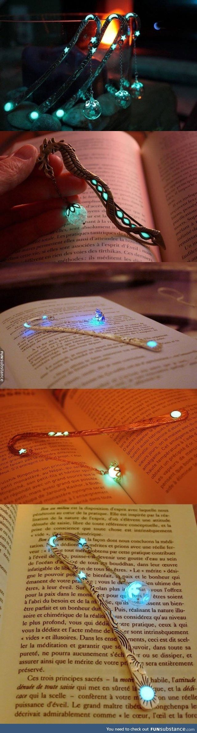 Glow-in-the-dark bookmarks that adds a touch of magic to your reading