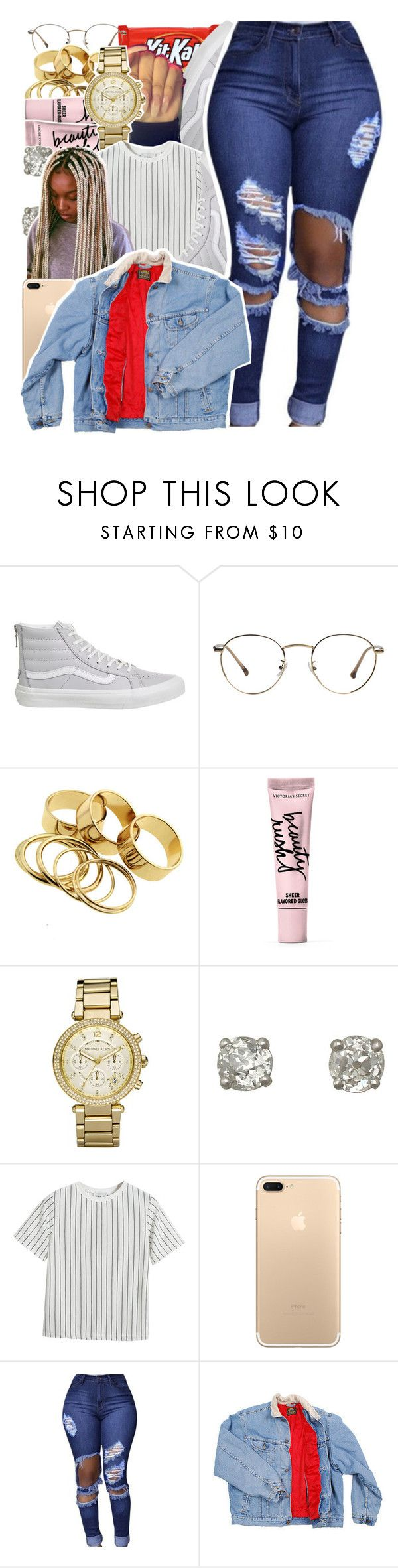 """""""jean jacket contest"""" by danny-baby-xoxo ❤ liked on Polyvore featuring Vans, Beauty Rush, Michael Kors, Chicnova Fashion and Lee"""