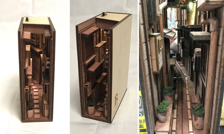 Clever Wooden Bookends Mimic Tokyo's Narrow Back…