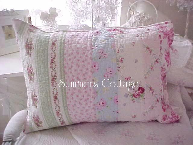 Full queen shabby bella blue pink roses cottage chic quilt
