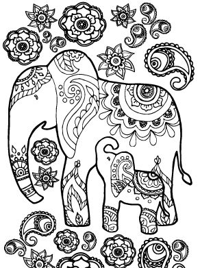 coloring pages for adults finished   159 best Elephant Coloring Pages for Adults images on ...