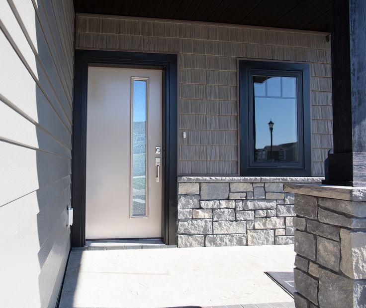 exterior doors one of many sleek modern fiberglass options this door features a