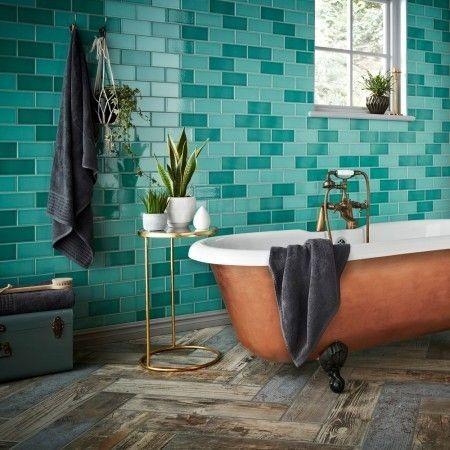 Teal tiles for kitchen