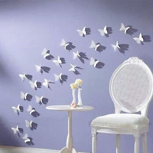 Mariposas de papel.