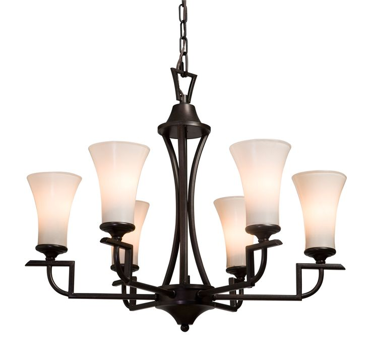 Wellington collection 6 light chandelier by artcraft lighting shown in oil rubbed bronze