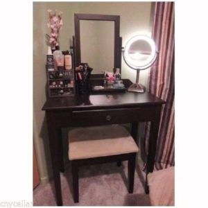 Astonishing Table With Mirror For Makeup | Bedroom Vanity Without Mirror,  Cosmetic Desk With Mirror