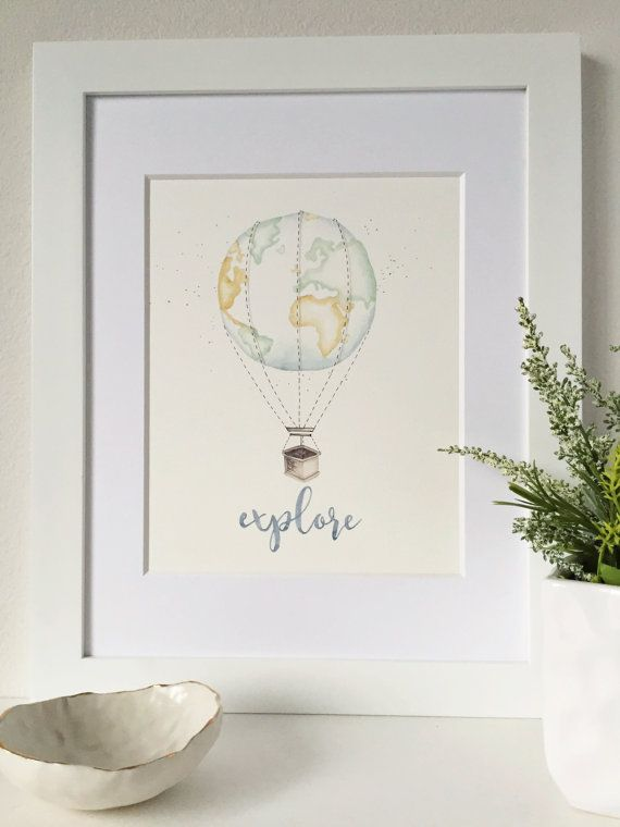 Travel Theme Nursery Explore Nursery Art by ThePrintsAndThePea