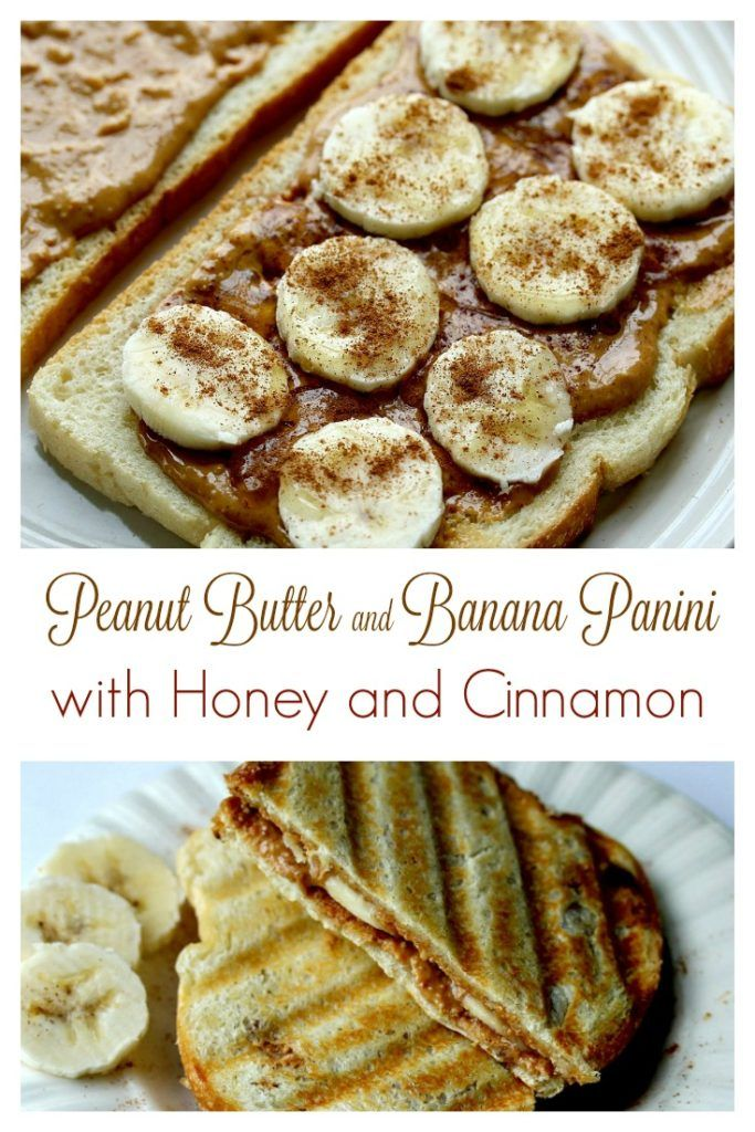 Grown Up Peanut Butter & Banana Panini