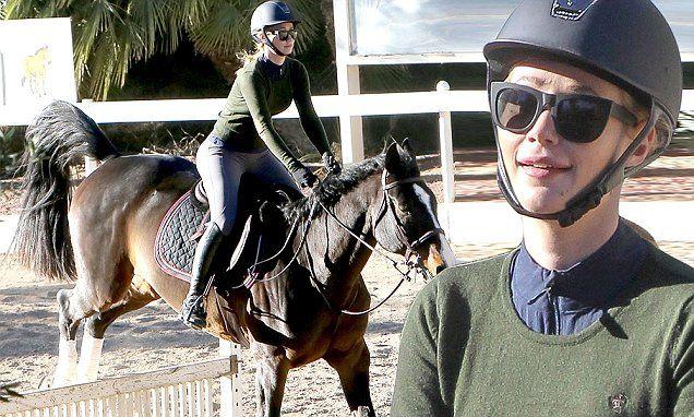 Iggy Azalea masters the jump on horseback during riding lesson in LA