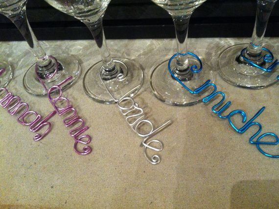 Custom Wine Charms  Choice of 12 wire by DressTheDressNS