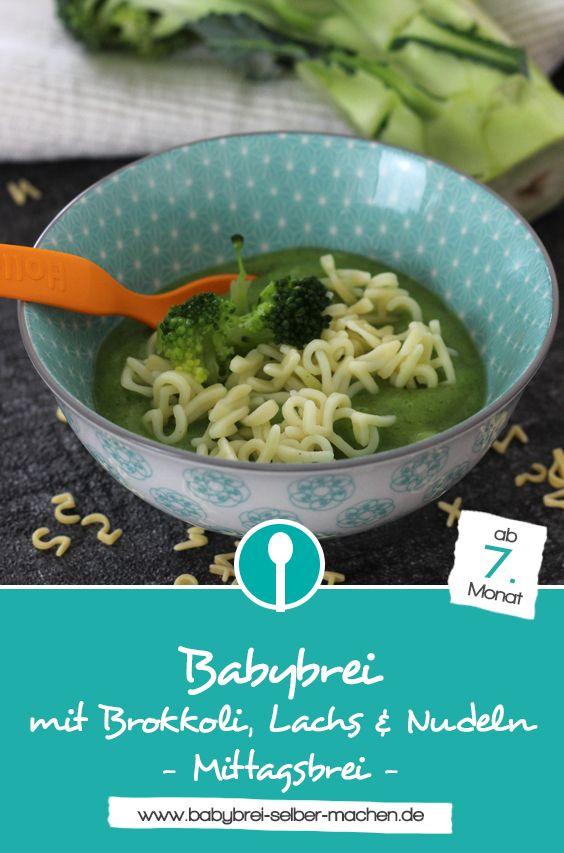 Babybrei mit Brokkoli, Lachs und Nudeln | Recipe ...