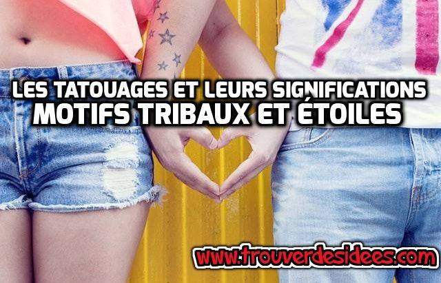 Les tatouages et leurs significations : design tribal et étoile #tatouage #étoile #tribal